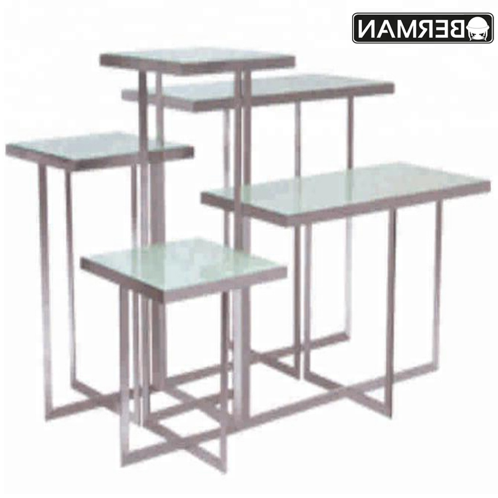 Wedding Table Decoration Tempered Rectangular Glass Top Stainless Steel Restaurant Dining Tables For Catering – Buy Tempered Glass Top Buffet Regarding Widely Used Rectangular Glasstop Dining Tables (View 28 of 30)