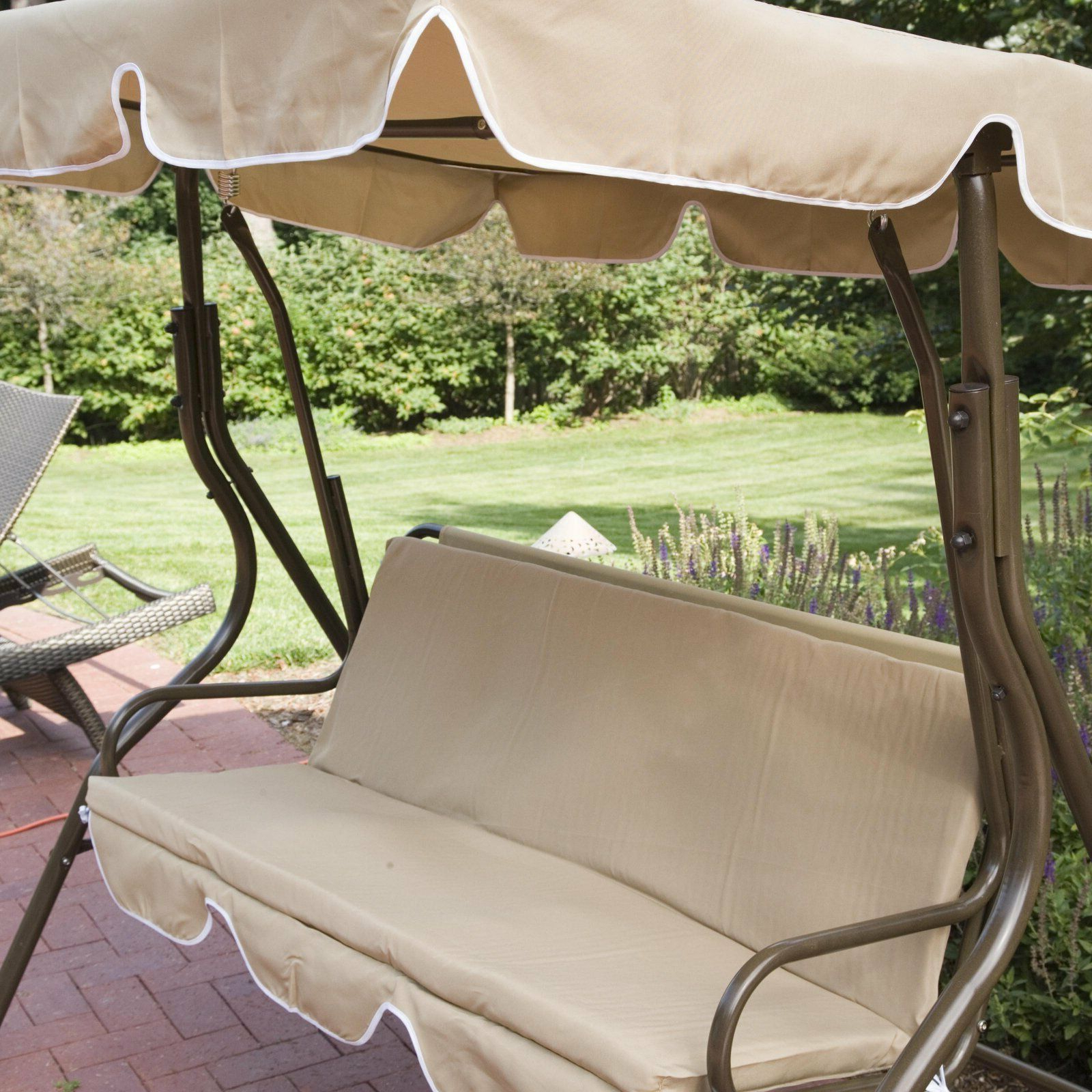 Well Known 2 Person Adjustable Tilt Canopy Patio Loveseat Porch Swings With Patio Swing With Canopy Outdoor Adjustable 2 Person Tilt Porch Swings Metal (View 10 of 30)