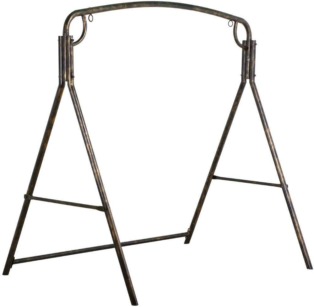 Well Known 2 Person Antique Black Iron Outdoor Swings With Battle Of The Metal Swing Stands – A Comparative Review (View 26 of 30)