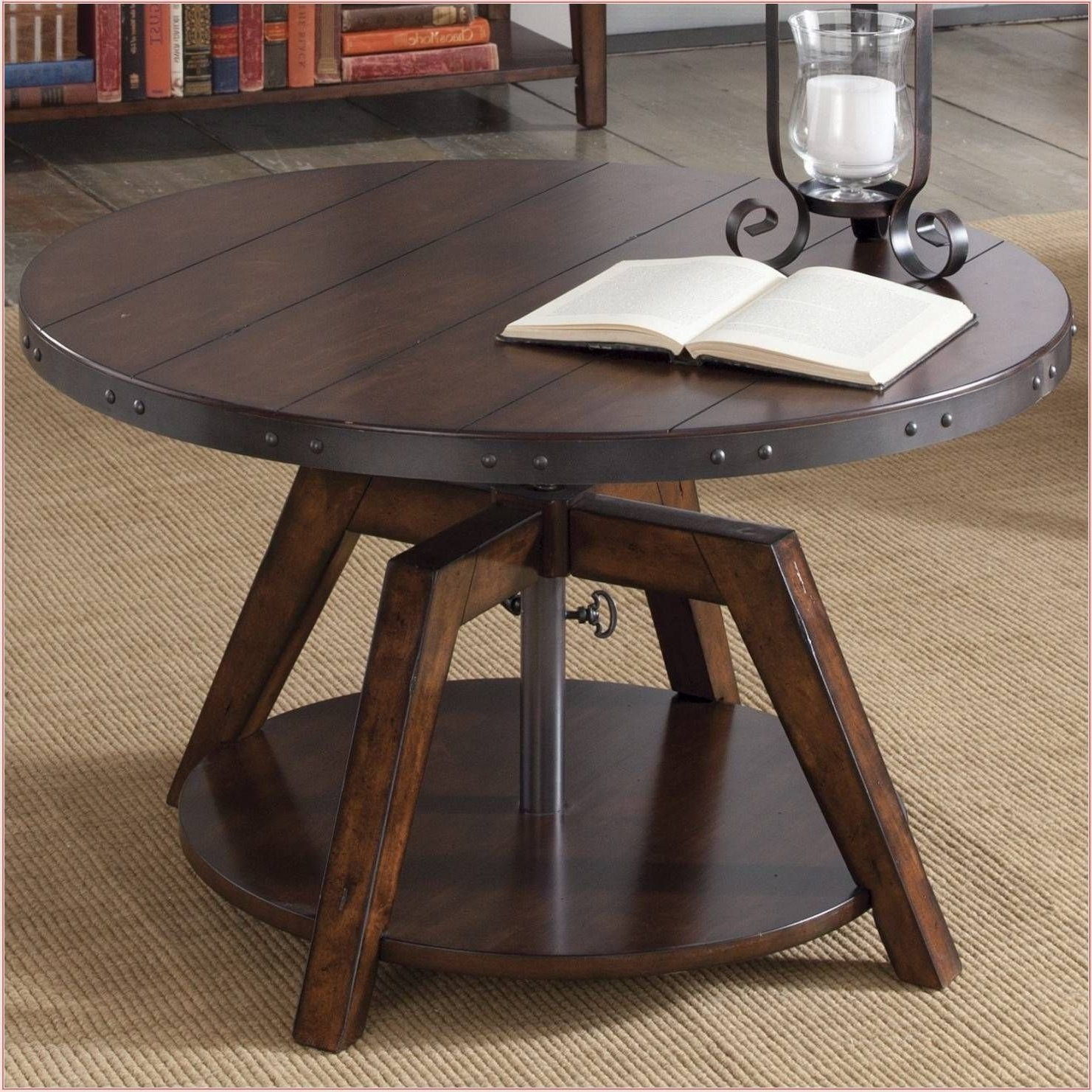 Well Known 4 Seater Round Wooden Dining Tables With Chrome Legs Throughout 50+ Amazing Convertible Coffee Table To Dining Table (View 20 of 30)