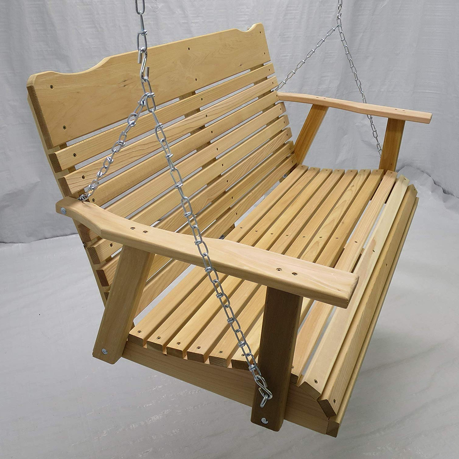 Well Known 5 Ft Cedar Swings With Springs Within Kilmer Creek 4 Foot Natural Cedar Porch Swing With Chain, Springs, Amish (View 18 of 30)