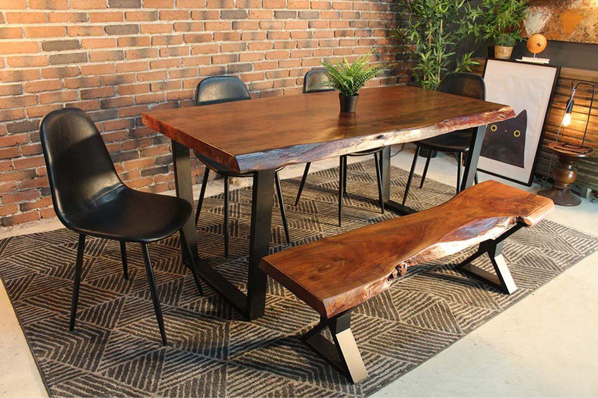 Featured Photo of Acacia Dining Tables With Black Legs