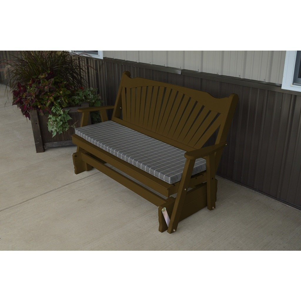 Well Known Amazon : A & L Furniture Co. Yellow Pine 4' Fanback In Fanback Glider Benches (Gallery 17 of 30)