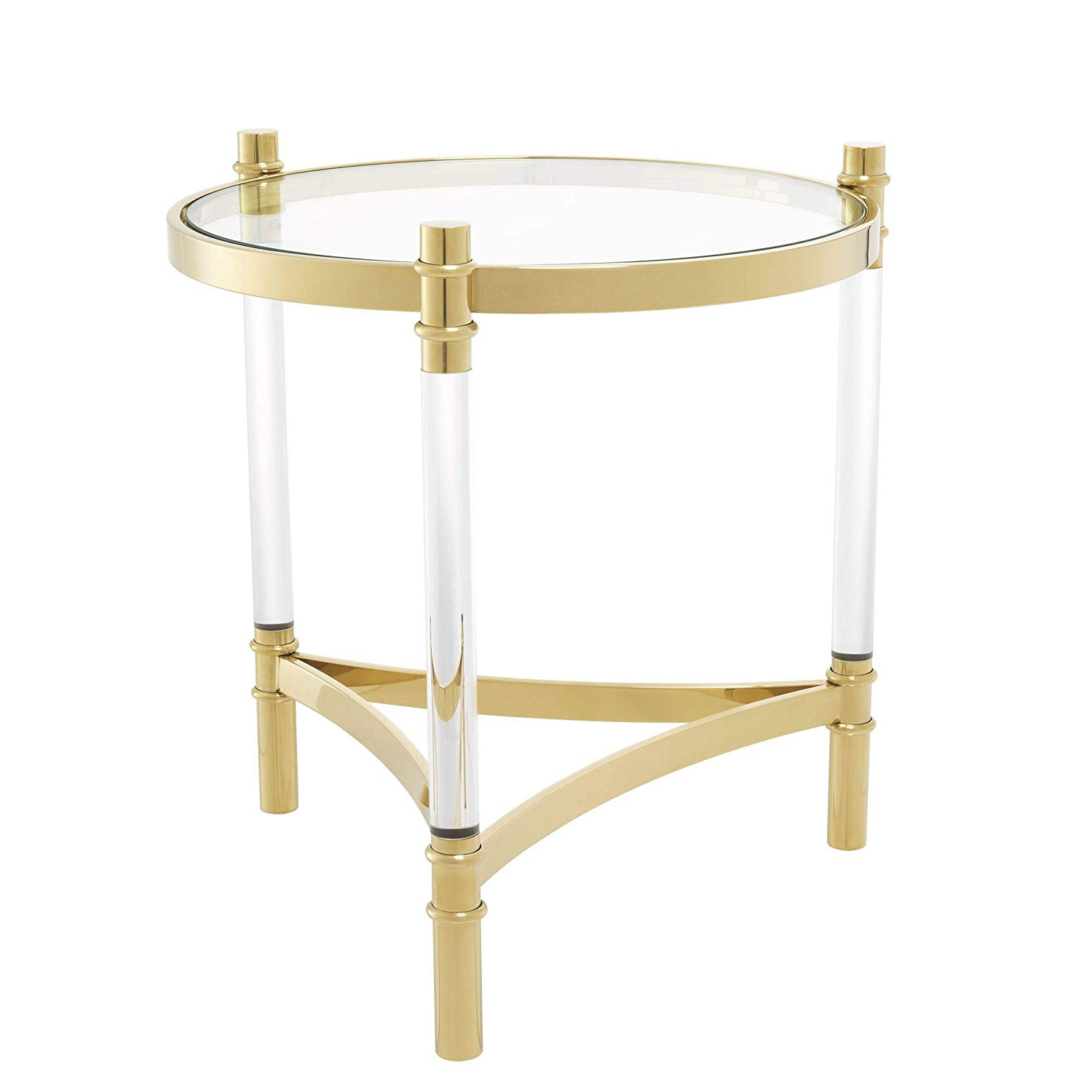 Well Known Amazon: Gold Round Side Table (View 30 of 30)