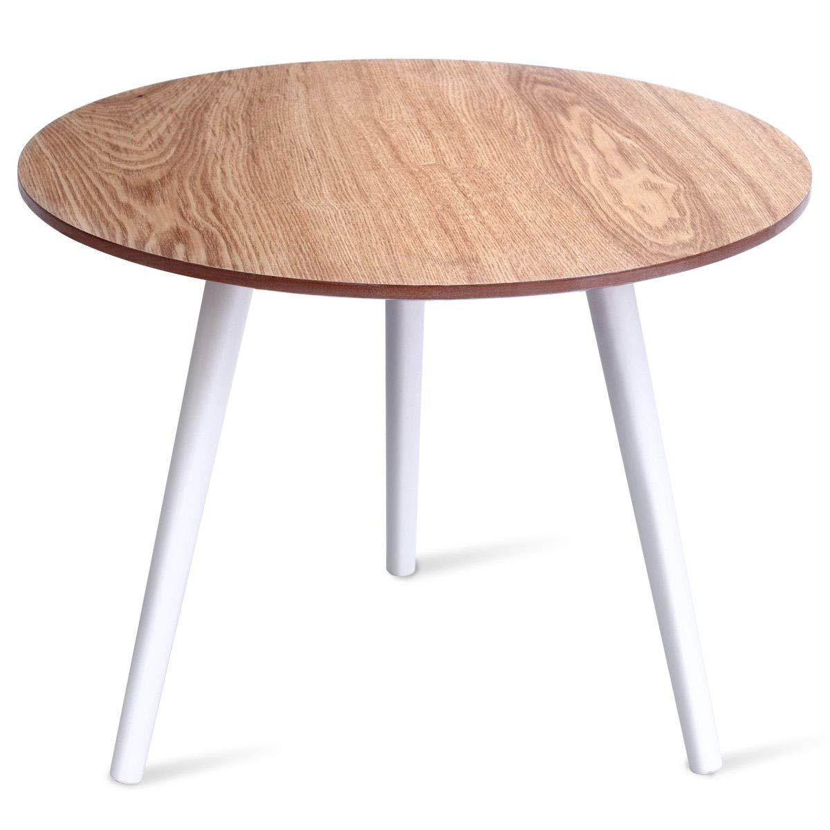 Well Known Amazon: Lordbee White Burlywood Dining Living Room Within Elegance Small Round Dining Tables (Gallery 30 of 30)