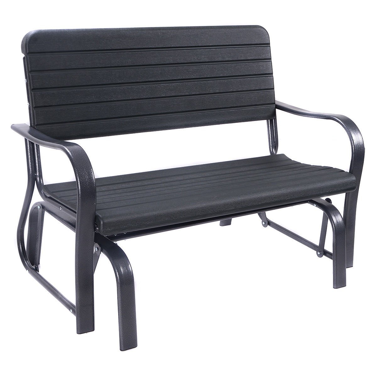 Well Known Amazon : Swing Porch Rocker Glider Bench Loveseat Garden With Regard To Black Steel Patio Swing Glider Benches Powder Coated (View 29 of 30)