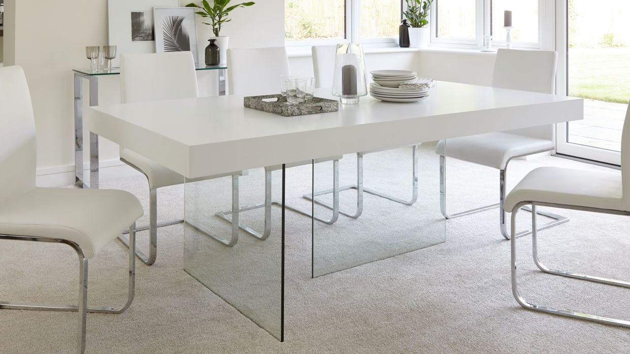 Well Known Aria White Oak And Glass Dining Table (View 25 of 30)