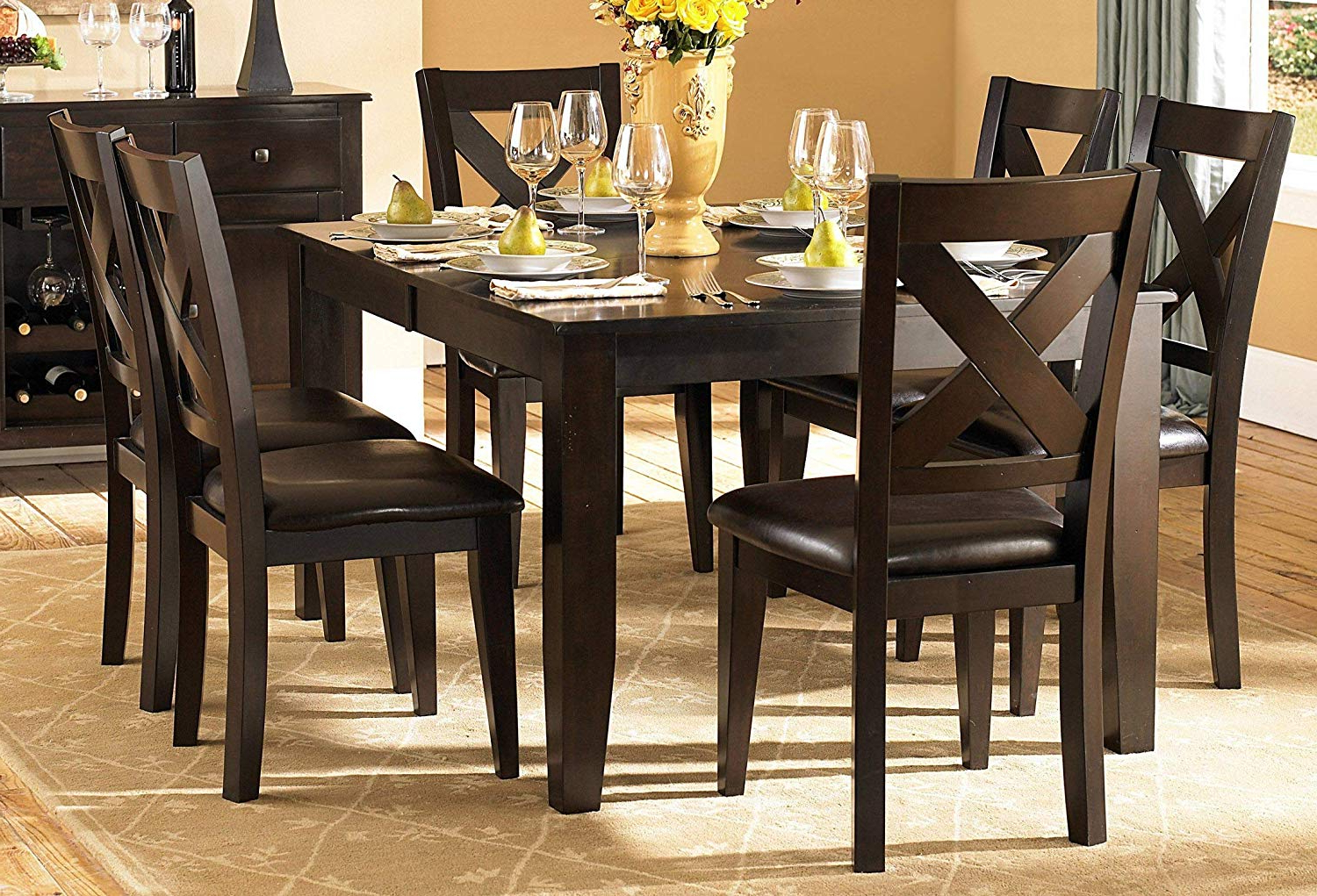 Well Known Artefac Contemporary Casual Dining Tables With Amazon – Creekmore Casual Modern 8pc Dining Set Table, (View 11 of 30)