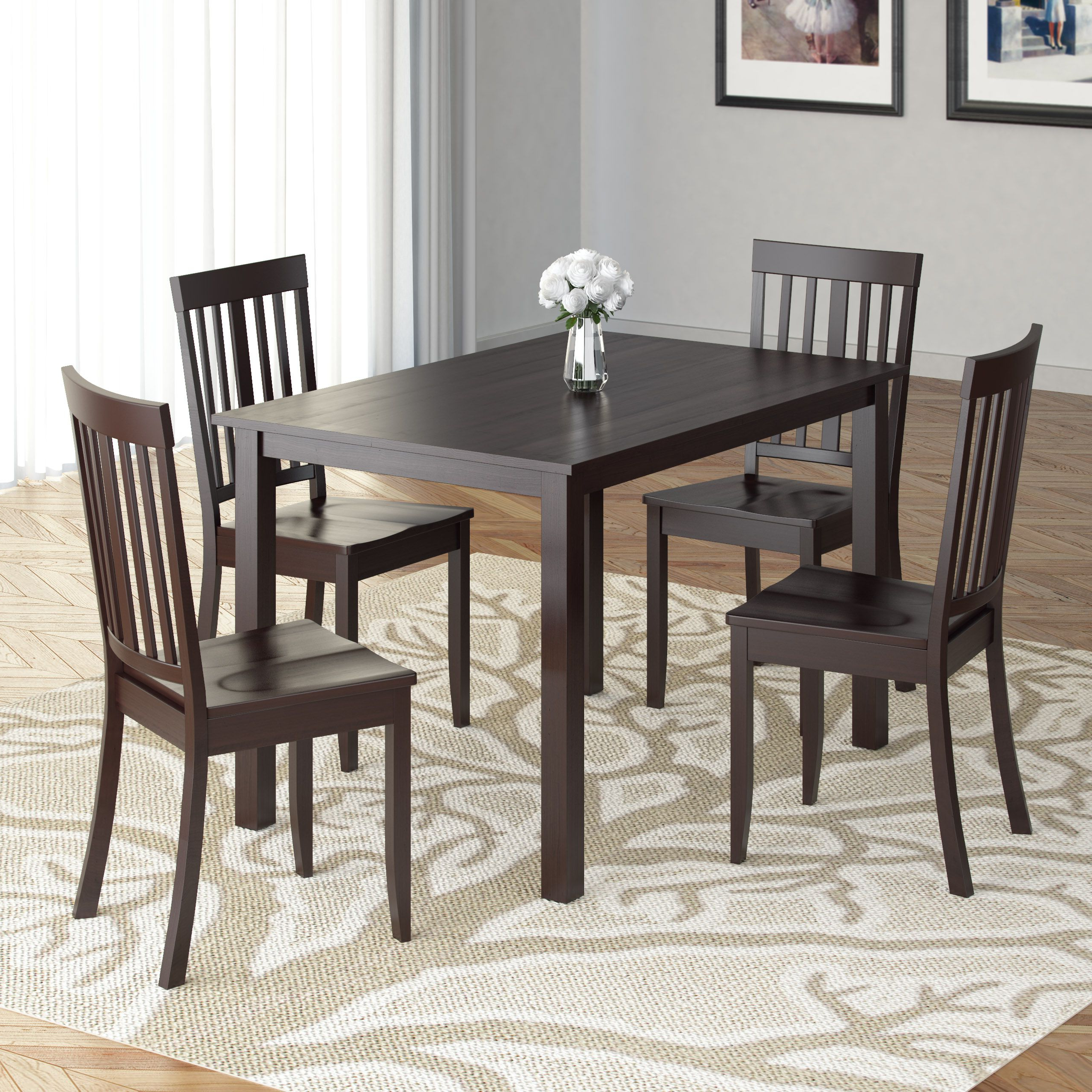 Well Known Atwood Transitional Rectangular Dining Tables Throughout Corliving Atwood 5 Pc (View 25 of 30)