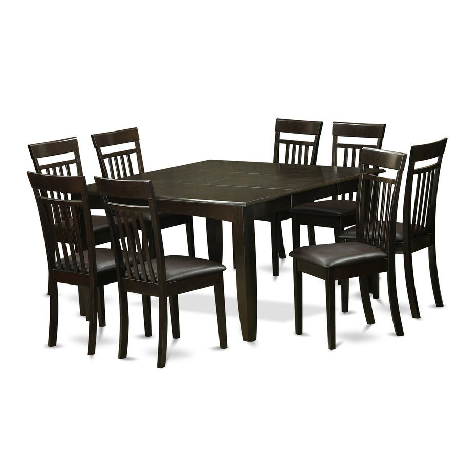 Well Known Atwood Transitional Square Dining Tables Inside Pilning Contemporary 9 Piece Wood Dining Set (View 12 of 30)