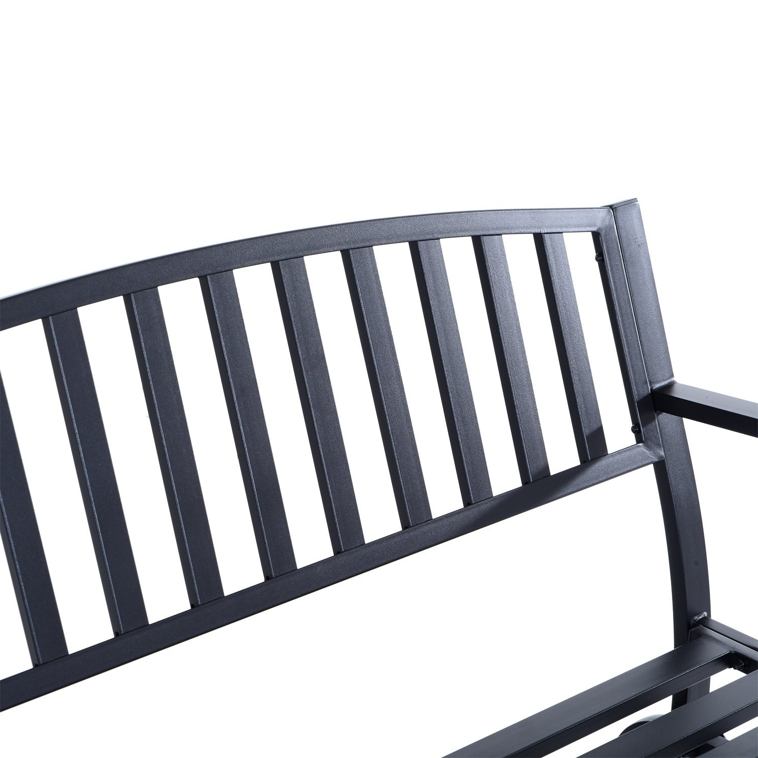 Well Known Black Steel Patio Swing Glider Benches Powder Coated Regarding Outsunny 50 Inch Outdoor Steel Patio Swing Glider Bench – Black (View 28 of 30)