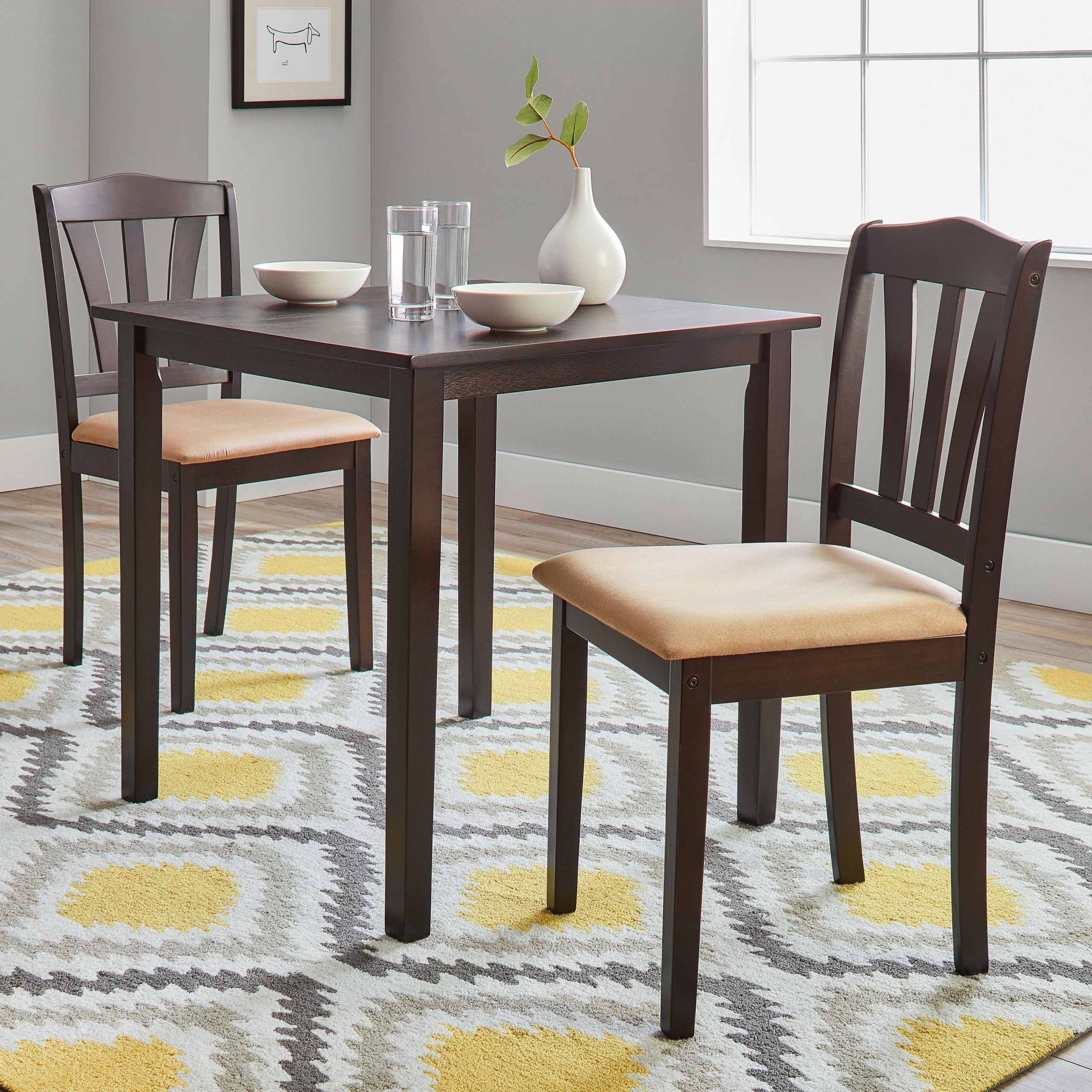 Well Known Buy 3 And 4 Legs Kitchen & Dining Room Sets Online At With 3 Pieces Dining Tables And Chair Set (View 13 of 30)