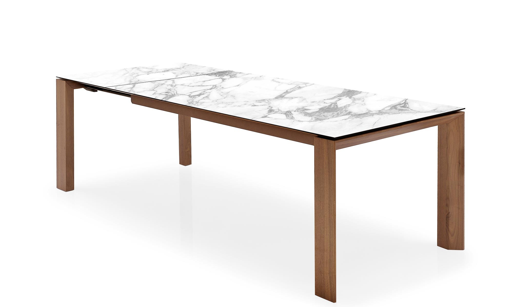 Well Known Calligaris Omnia – Cs4058 Lv Ext Dining Table With White Marble Ceramic Top With Regard To Dining Tables With White Marble Top (Gallery 8 of 30)