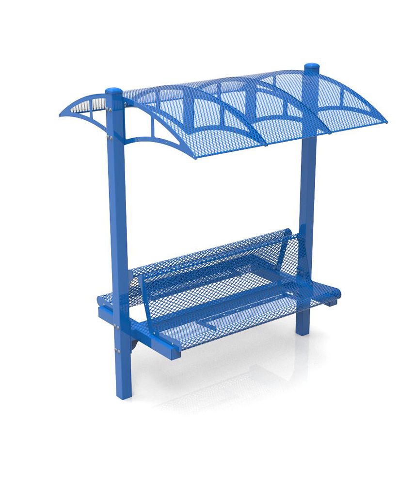 Well Known Canopy Bench – 6Ft – Double Sided – Powder Coated Frame Regarding Metal Powder Coat Double Seat Glider Benches (View 29 of 30)