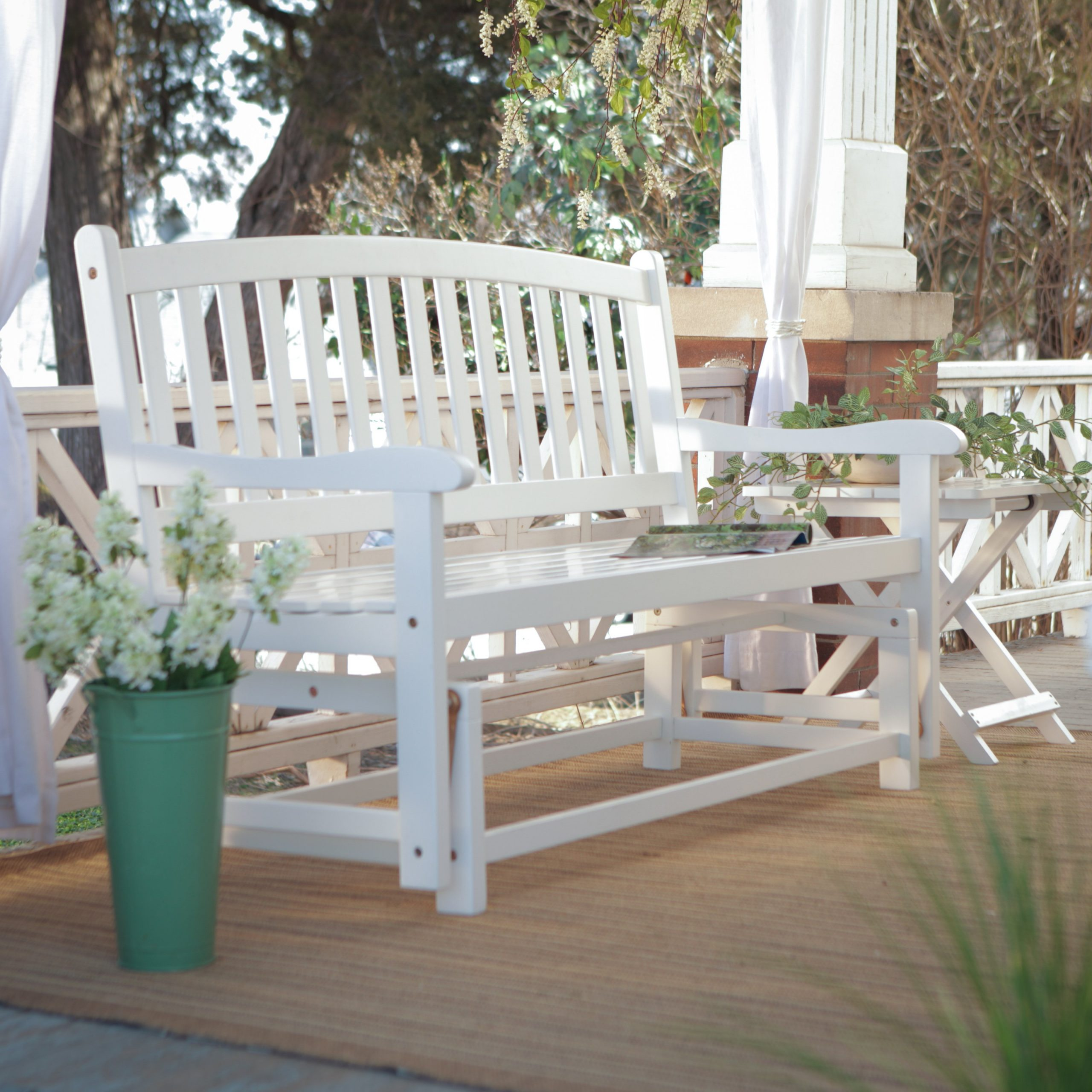 Well Known Decorating: Your Porch And Patio Never Been The Same With For Hardwood Porch Glider Benches (View 24 of 30)