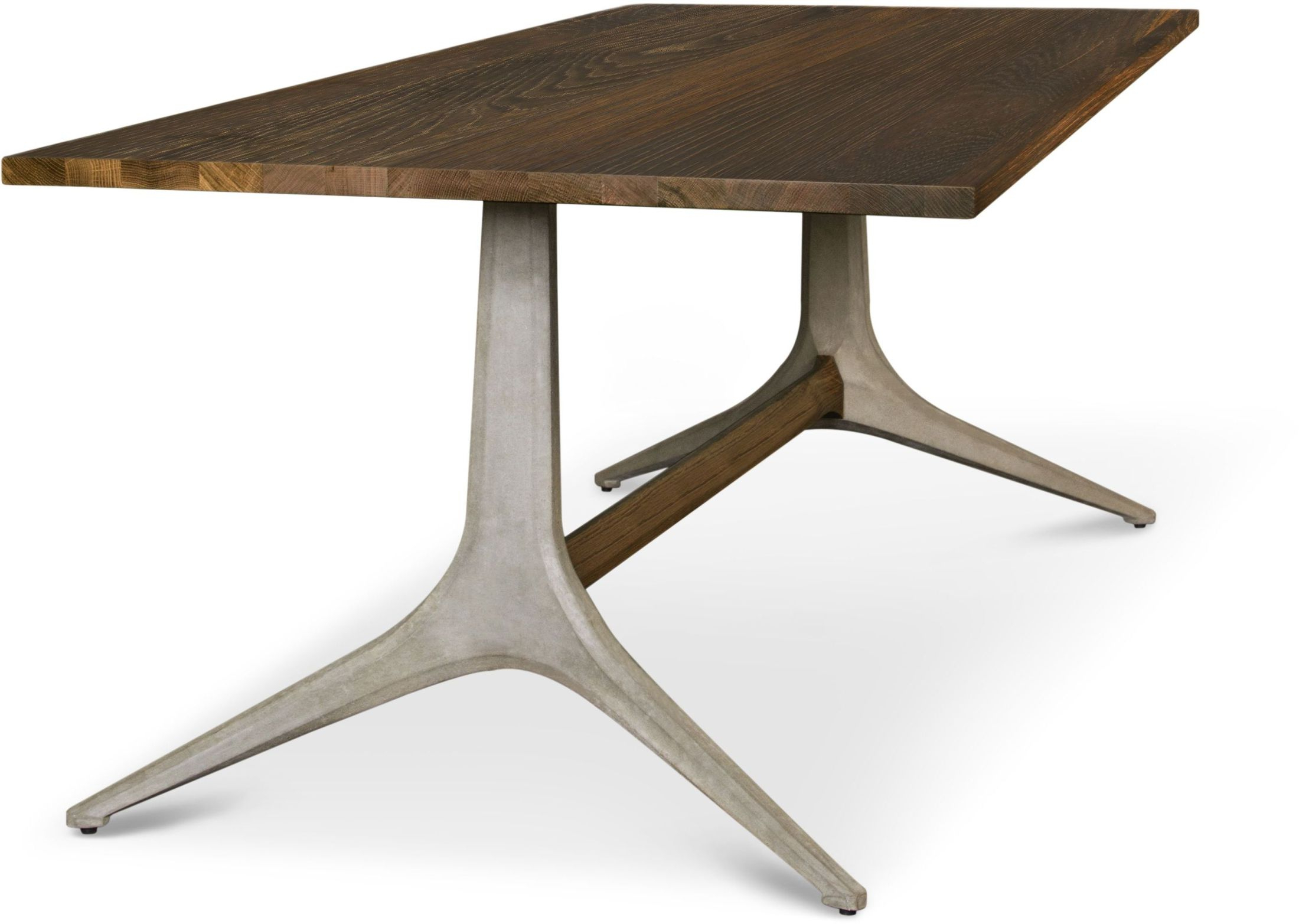 """Well Known Dining Tables In Smoked Seared Oak With Regard To Kahn 86"""" Smoked Wood Dining Table, Hgda524, Nuevo (View 28 of 30)"""