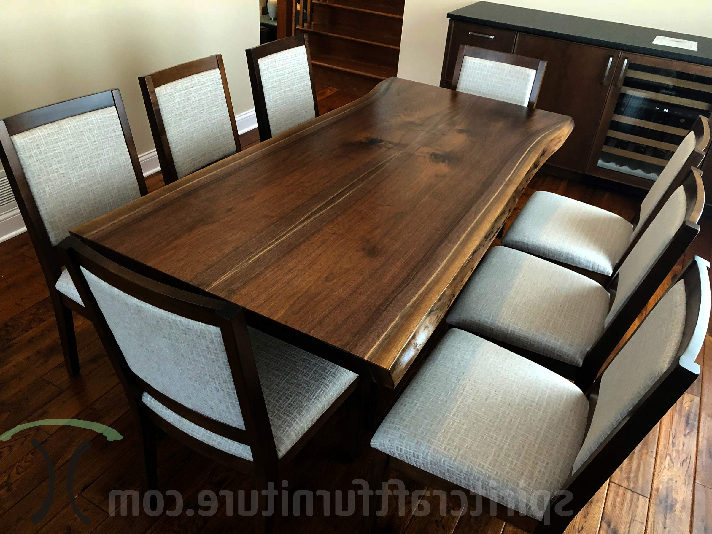 Well Known Dining Tables With Stained Ash Walnut Regarding Custom Solid Wood And Live Edge Dining Conference Tables (Gallery 27 of 30)