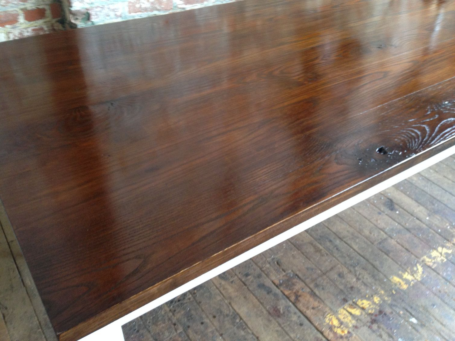 Well Known French Country Dining Table Walnut Stained Ash & White Oak Within Dining Tables With Stained Ash Walnut (Gallery 1 of 30)