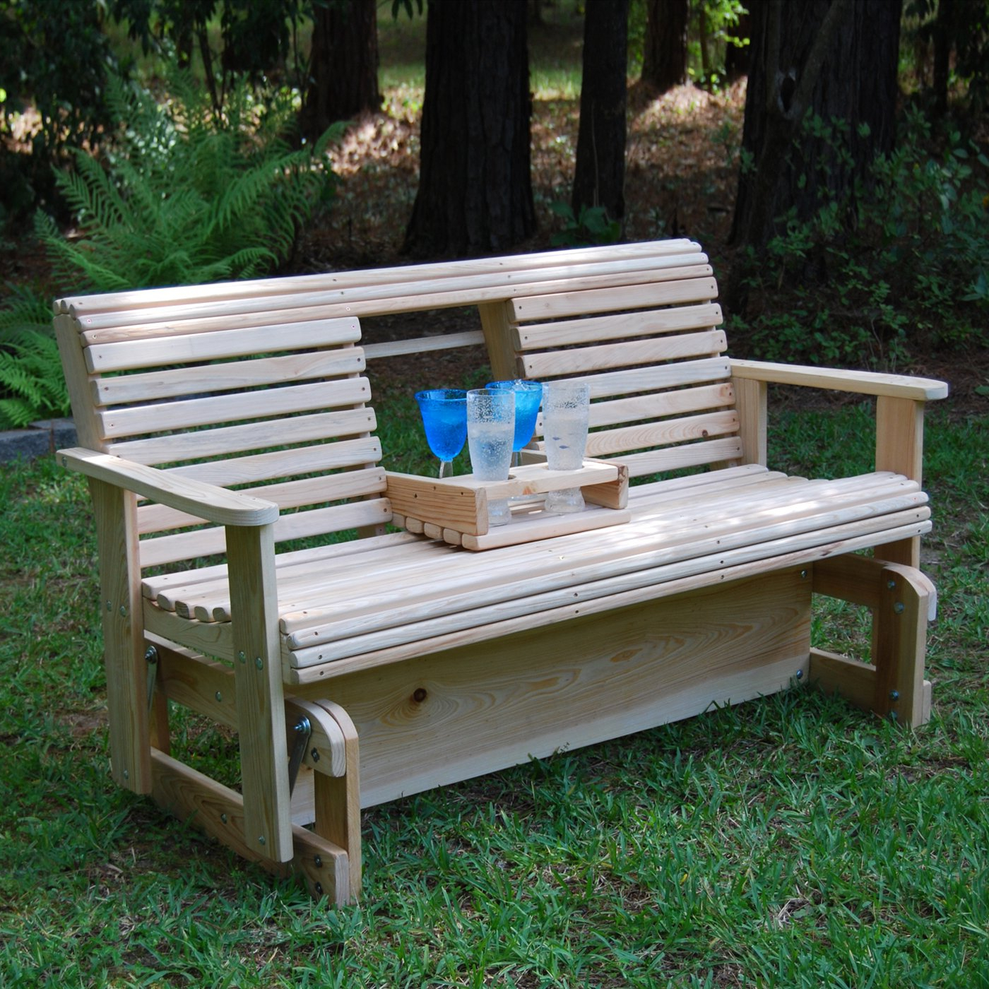 Well Known Hardwood Porch Glider Benches Pertaining To Outdoor Glider Bench White : Outdoor Decorations – What Is (View 3 of 30)
