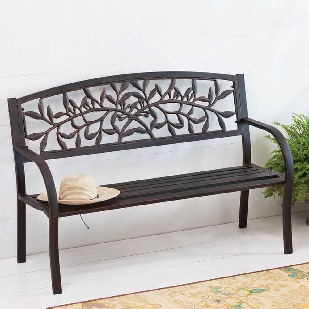 Well Known Iron Grove Slatted Glider Benches Inside Cape Craftsman 50.5 In (View 18 of 30)