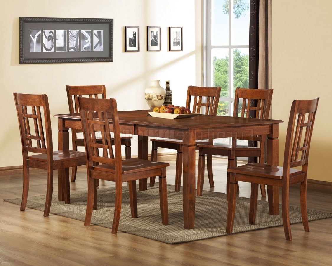 Well Known Medium Brown Cherry Modern Dining Table W/optional Side Chairs Inside Medium Dining Tables (View 10 of 30)