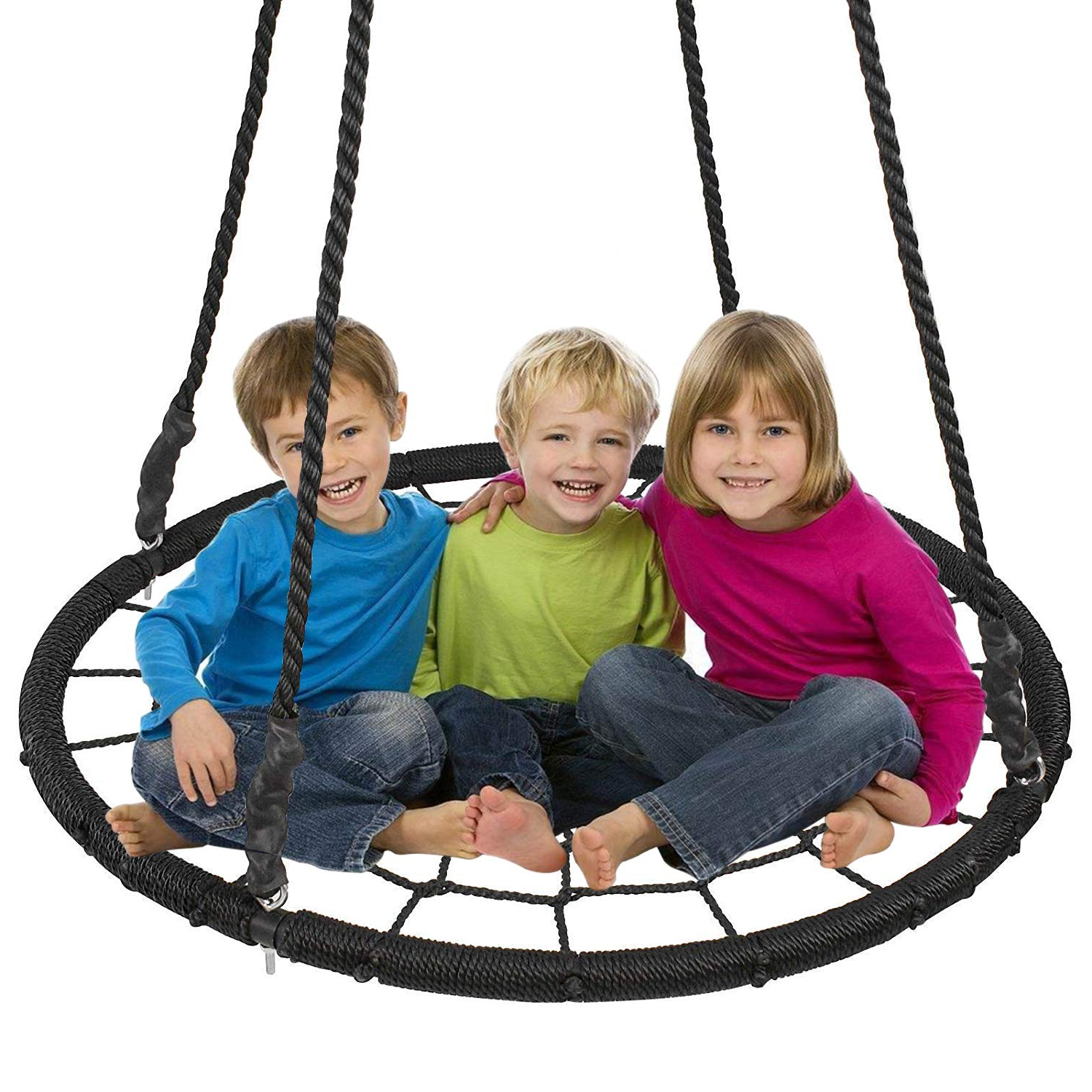 "Well Known Nest Swings With Adjustable Ropes Within Display4Top Outdoor Swing, Giant 40"" Round Web Tree Net (Gallery 13 of 30)"