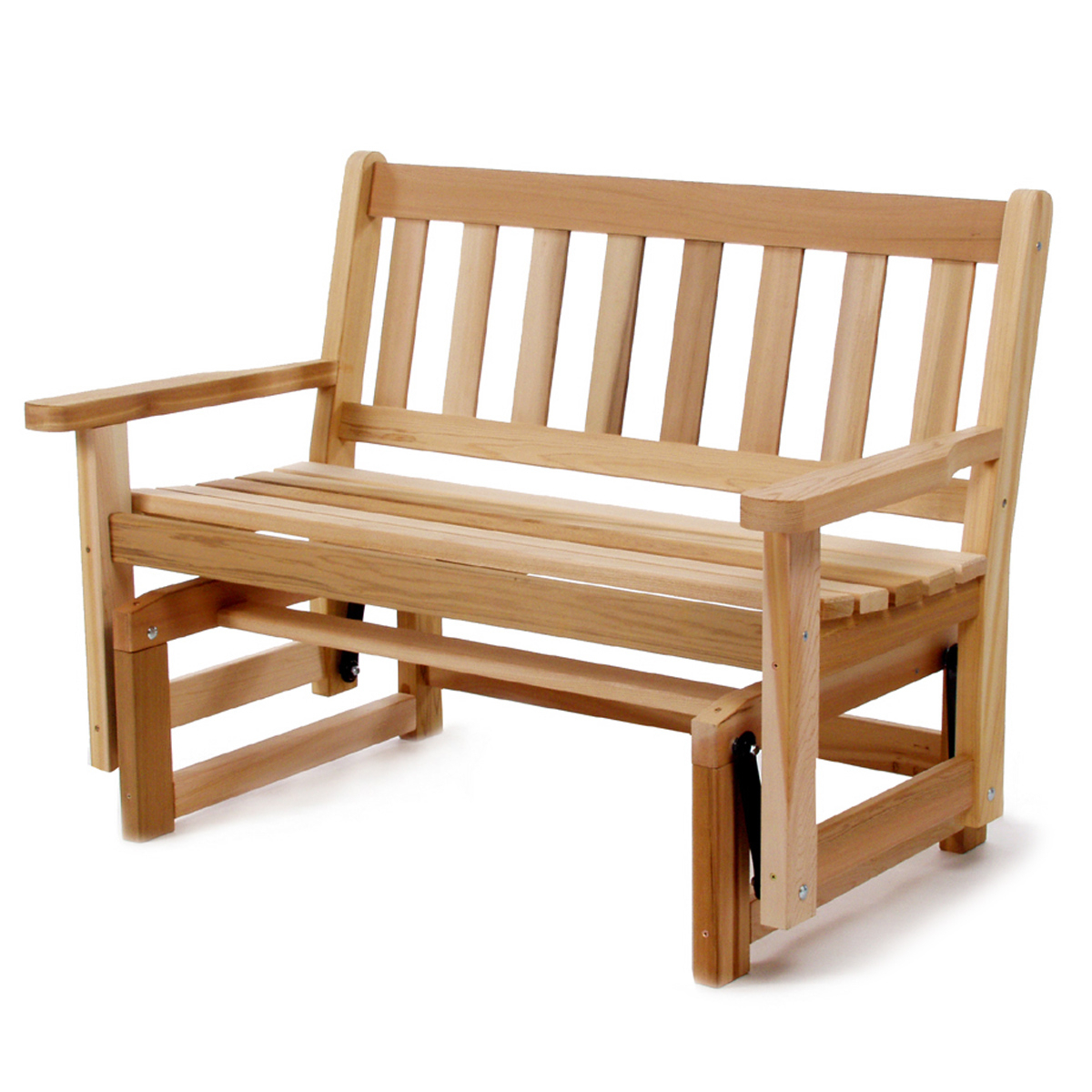 Well Known Outdoor Wooden Glidersall Things Cedar Adirondack Furniture Intended For Teak Outdoor Glider Benches (View 9 of 30)