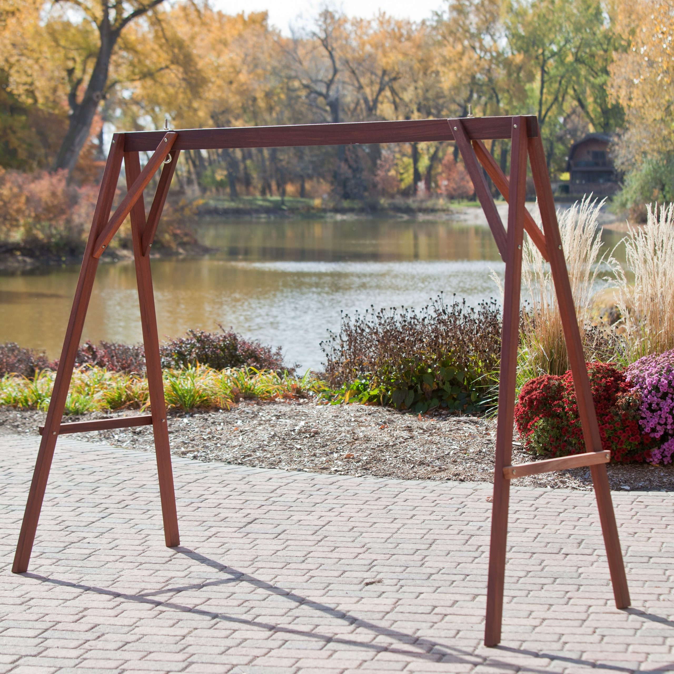 Well Known Patio Porch Swings With Stand Throughout Metal Porch Swings With Stands (View 13 of 30)