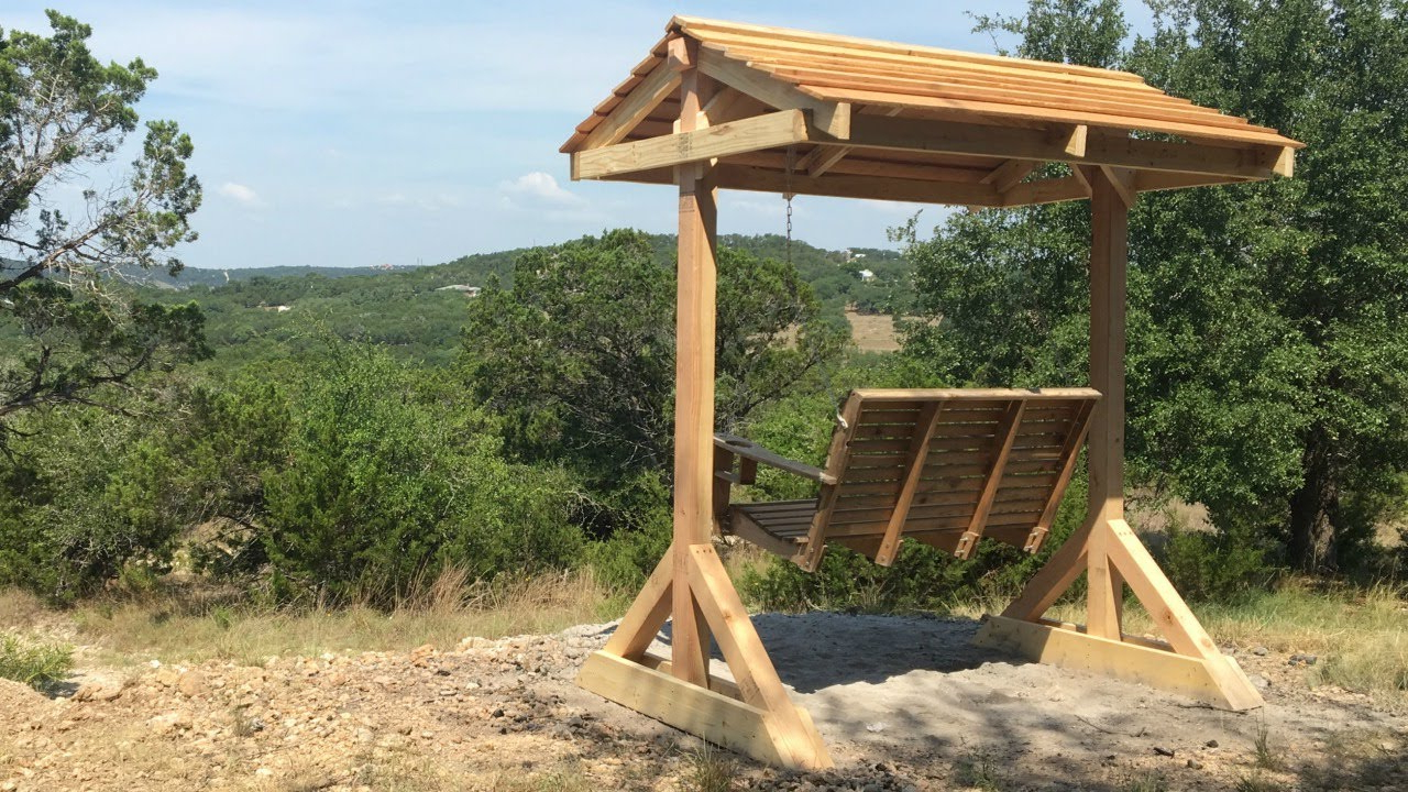 Well Known Patio Porch Swings With Stand With Regard To How To Build A Porch Swing Frame (View 29 of 30)