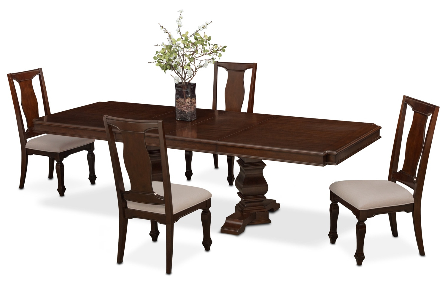 Well Known Rectangular Dining Tables Pertaining To Vienna Rectangular Dining Table And 4 Dining Chairs (View 29 of 30)
