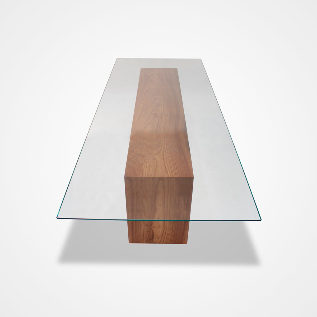 Well Known Rectangular Glass Top Dining Tables Regarding Glass Topped Solid Wood Dining Table – Rotsen Furniture (Gallery 29 of 30)