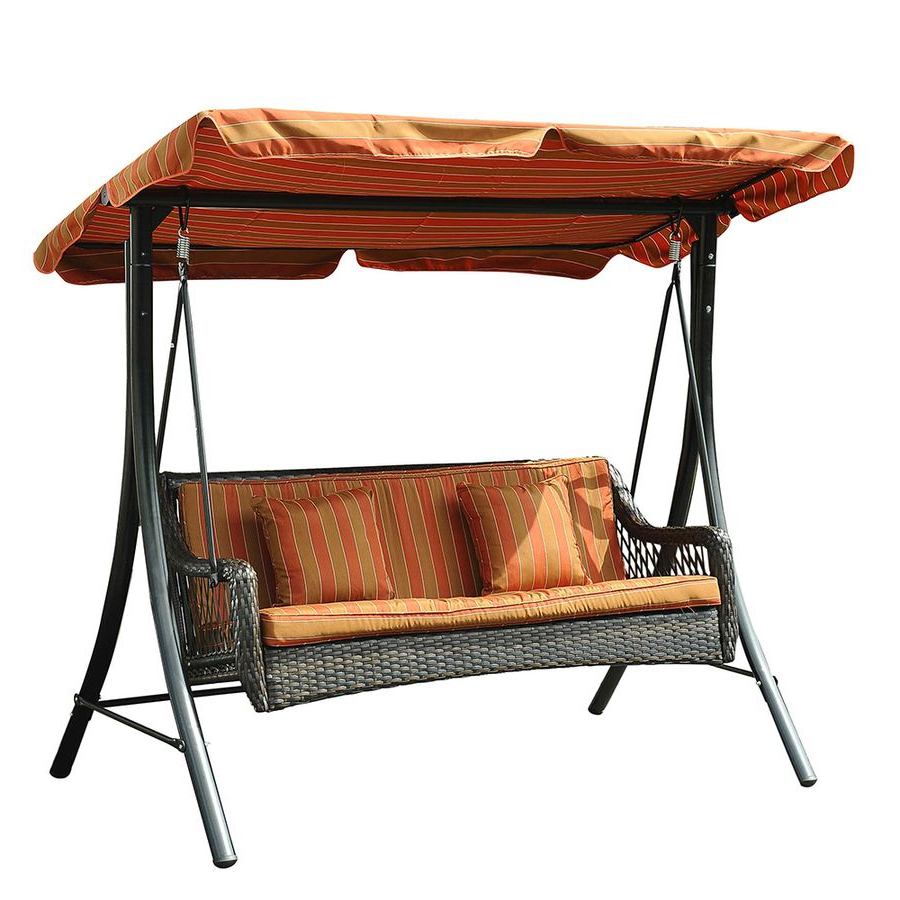 Featured Photo of Wicker Glider Outdoor Porch Swings With Stand