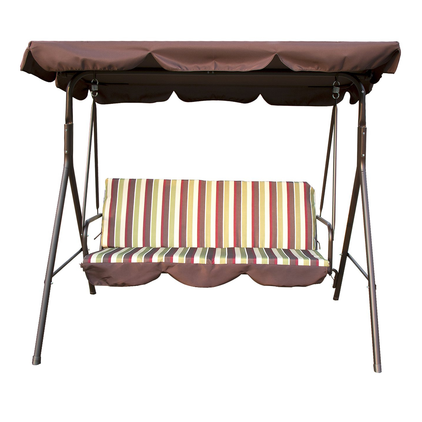 Well Known Sliverylake Outdoor 3 Person Porch Swing Glider Hammock Chair Patio  Backyard Furniture Cushioned Steel Frame With 3 Seats Patio Canopy Swing Gliders Hammock Cushioned Steel Frame (View 27 of 30)