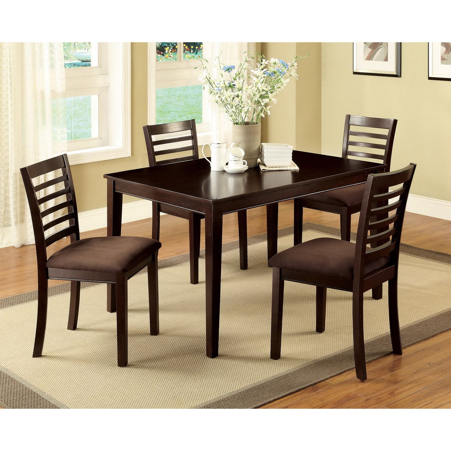 Well Known The Eazton 5 Pc Dining Set Is Perfect For Compact Kitchen Or Inside Atwood Transitional Square Dining Tables (View 8 of 30)