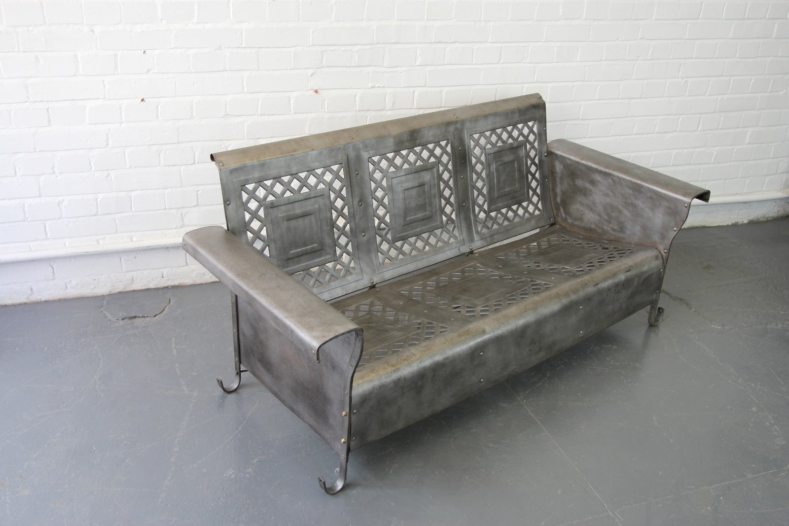 Well Known Traditional English Glider Benches Within Steel Porch Benchthe Bunting Glider Co (View 33 of 34)
