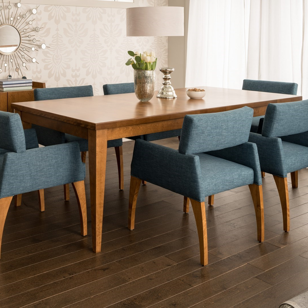 Well Known Transitional 4 Seating Double Drop Leaf Casual Dining Tables With Regard To Canadel Custom Dining Customizable Contemporary Rectangular (Gallery 27 of 30)