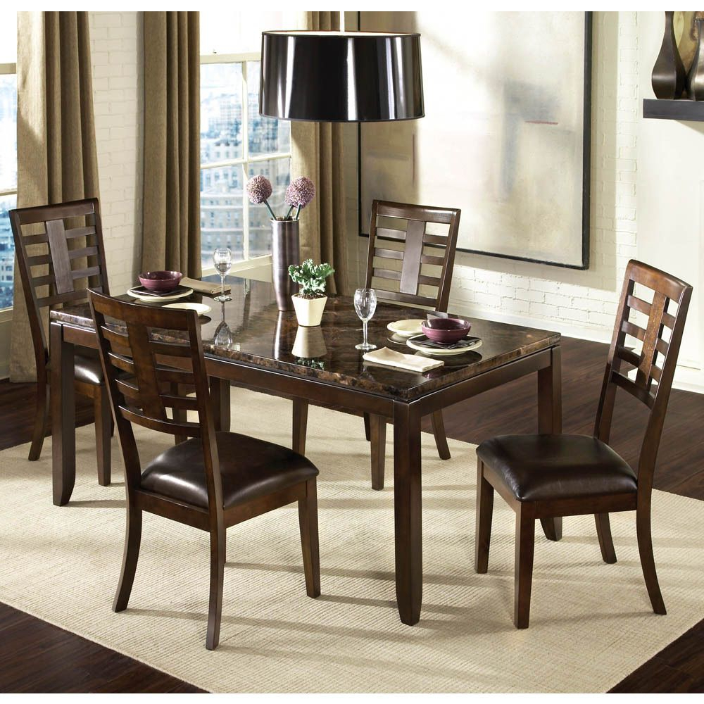 Well Known Transitional Antique Walnut Square Casual Dining Tables With Regard To The Sleek Contemporary Lines Of Bella Will Enhance Any (View 13 of 30)