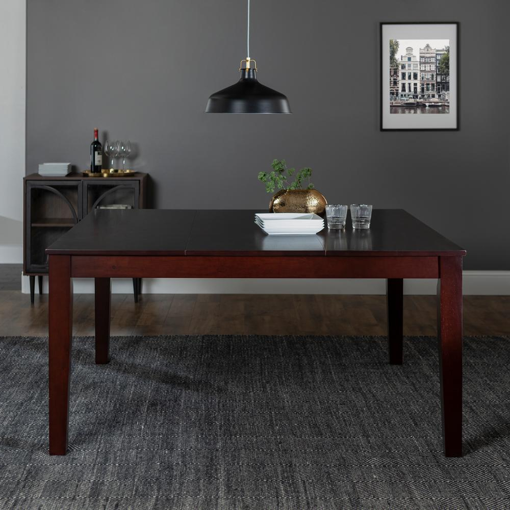 Well Known Walker Edison Furniture Company Classic Cappuccino Stain Intended For Cappuccino Finish Wood Classic Casual Dining Tables (View 29 of 30)