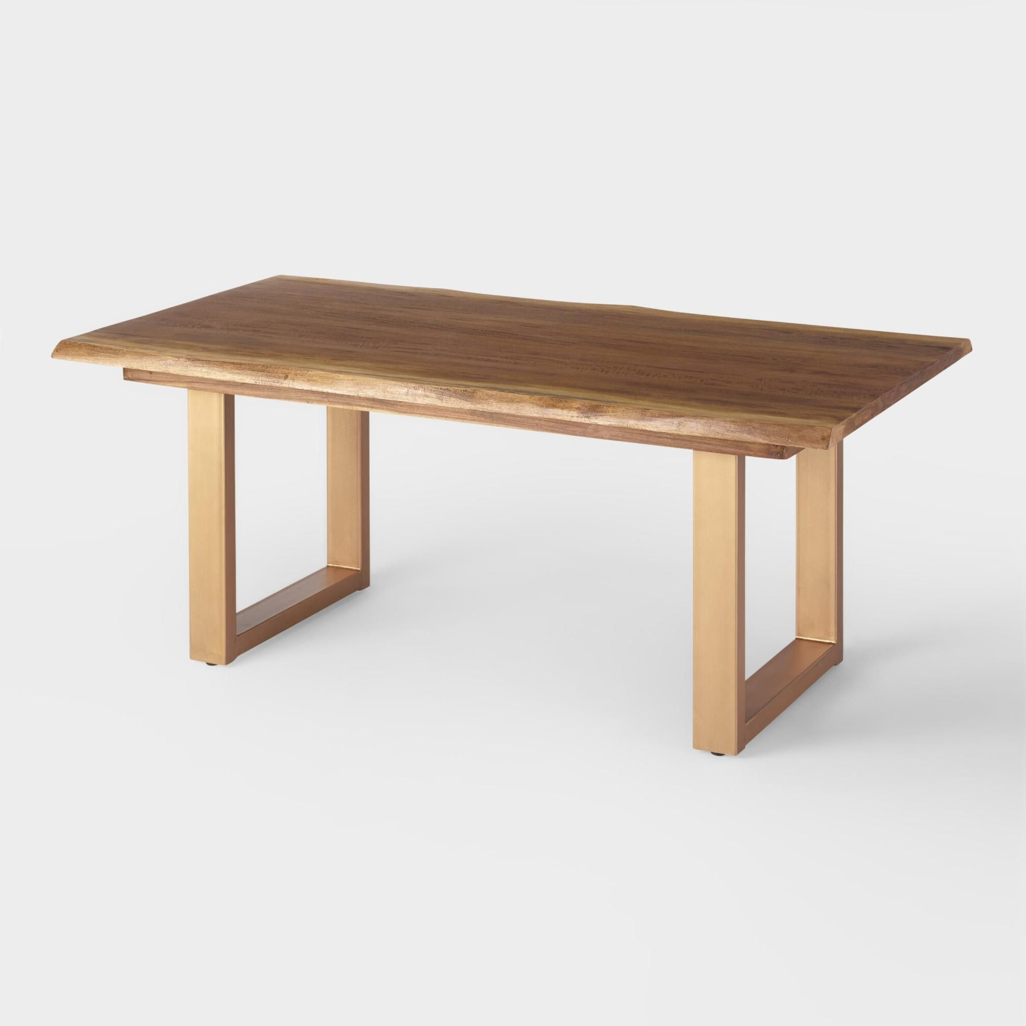 Well Known With Its U Shaped Matte Gold Base And Sleek Smoke Black Within Dining Tables In Smoked Seared Oak (View 3 of 30)