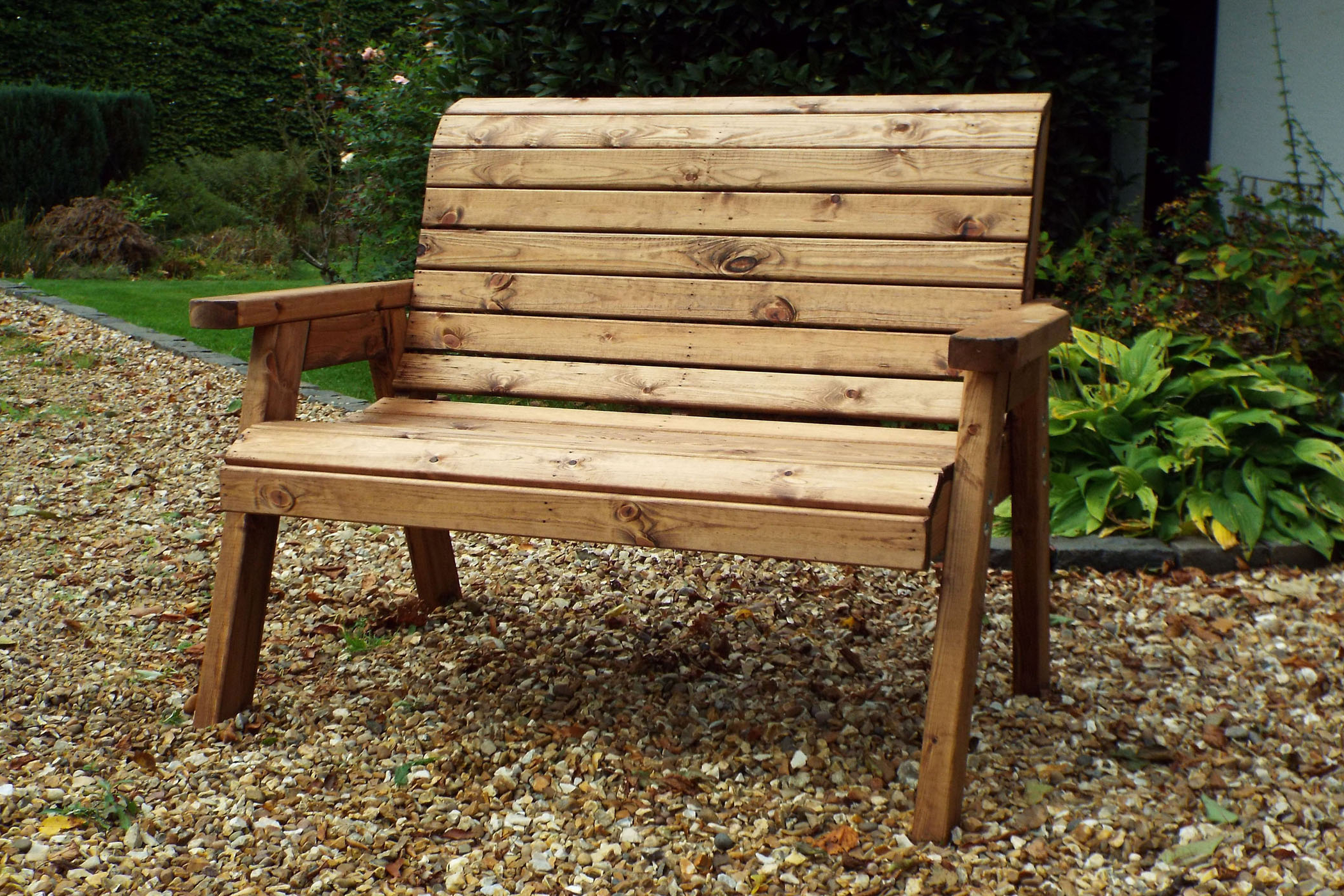 Well Known Wood Garden Benches With Regard To Benches Garden Bench 2 Seater Solid Wooden Furniture Hand (Gallery 4 of 30)