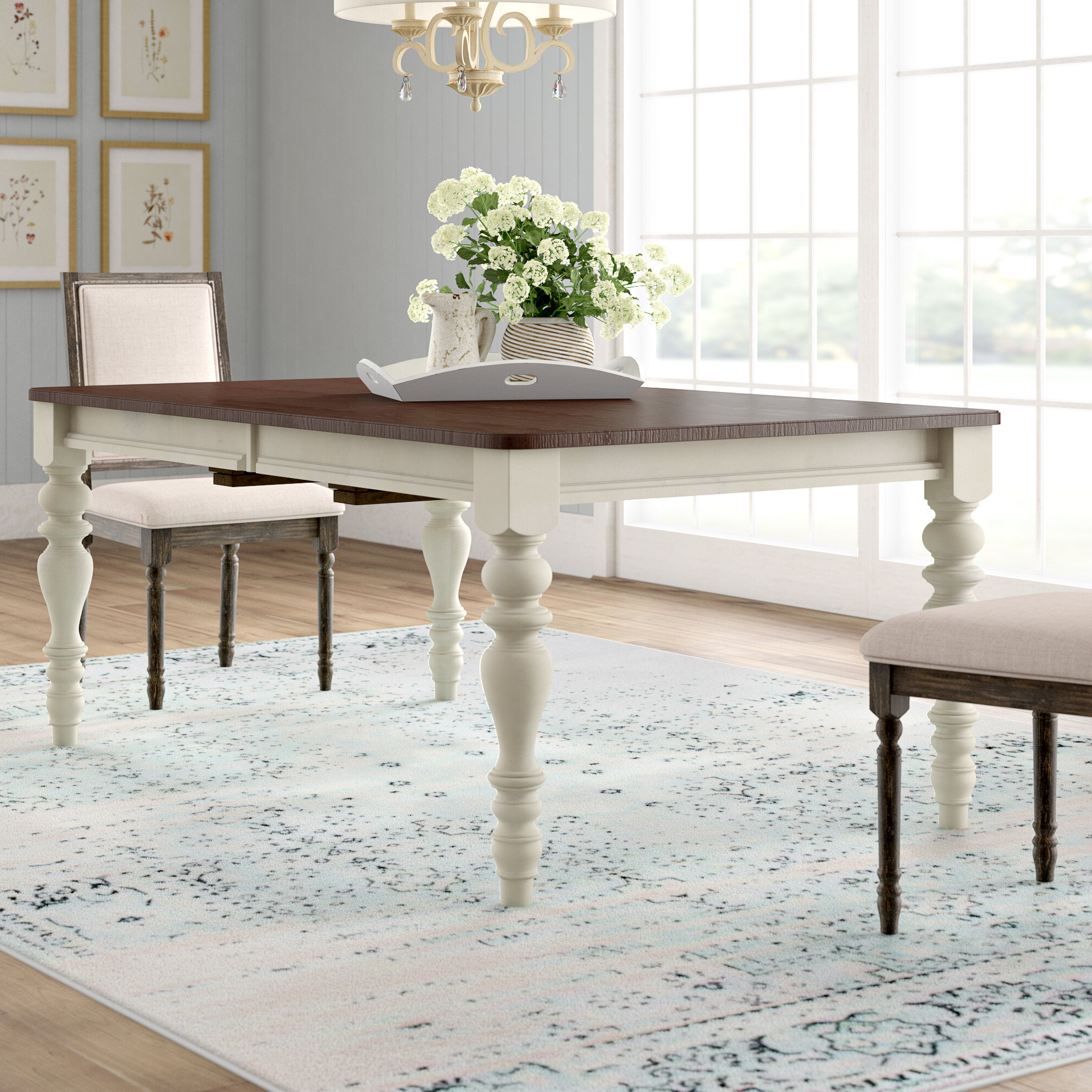 Well Known Wood Kitchen Dining Tables With Removable Center Leaf Regarding Lark Manor Alise Extendable Solid Wood Dining Table (View 13 of 30)