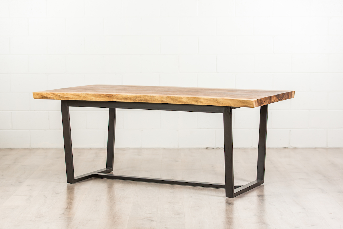 Well Known Wooden Dining Table With Metal Legs Intended For Acacia Top Dining Tables With Metal Legs (View 22 of 30)
