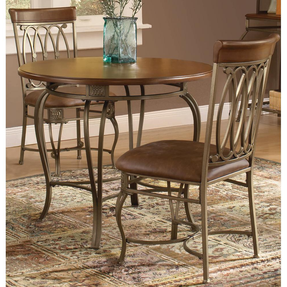 Well Liked 3 Pieces Dining Tables And Chair Set Intended For 3 Piece Dining Table And Chairs Comfy Montello Old Steel (View 6 of 30)