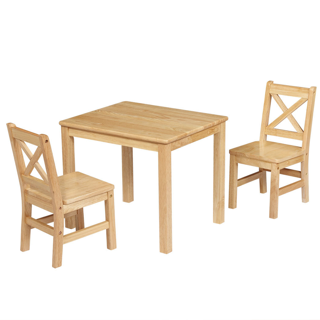 Well Liked 3 Pieces Dining Tables And Chair Set Regarding Beaudry Kids 3 Piece Square Table And Chairs Set (View 29 of 30)
