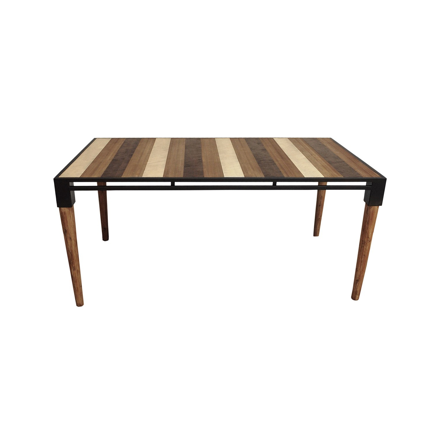 Well Liked Acacia Wood Medley Medium Dining Tables With Metal Base Intended For Medley Dining Table  Small (Gallery 5 of 30)
