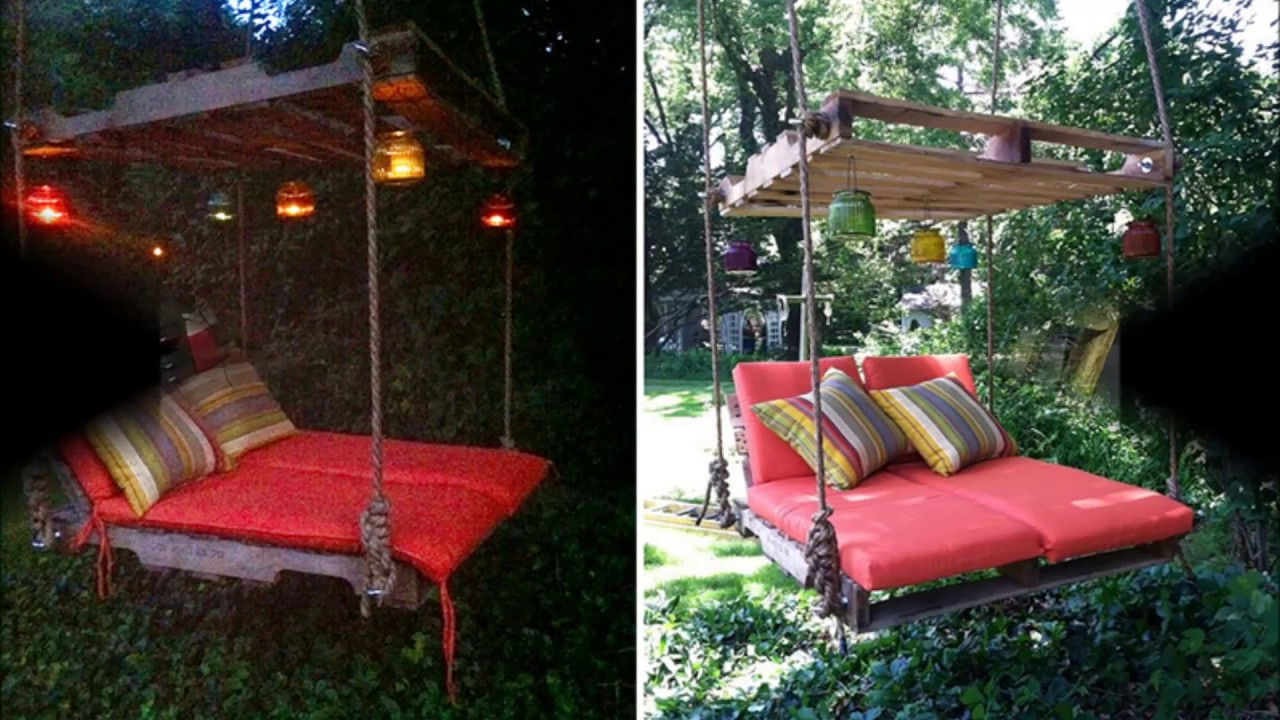 Well Liked American Flag Porch Swings Regarding How To Make Pallet Hanging Lounge Swing (View 30 of 30)