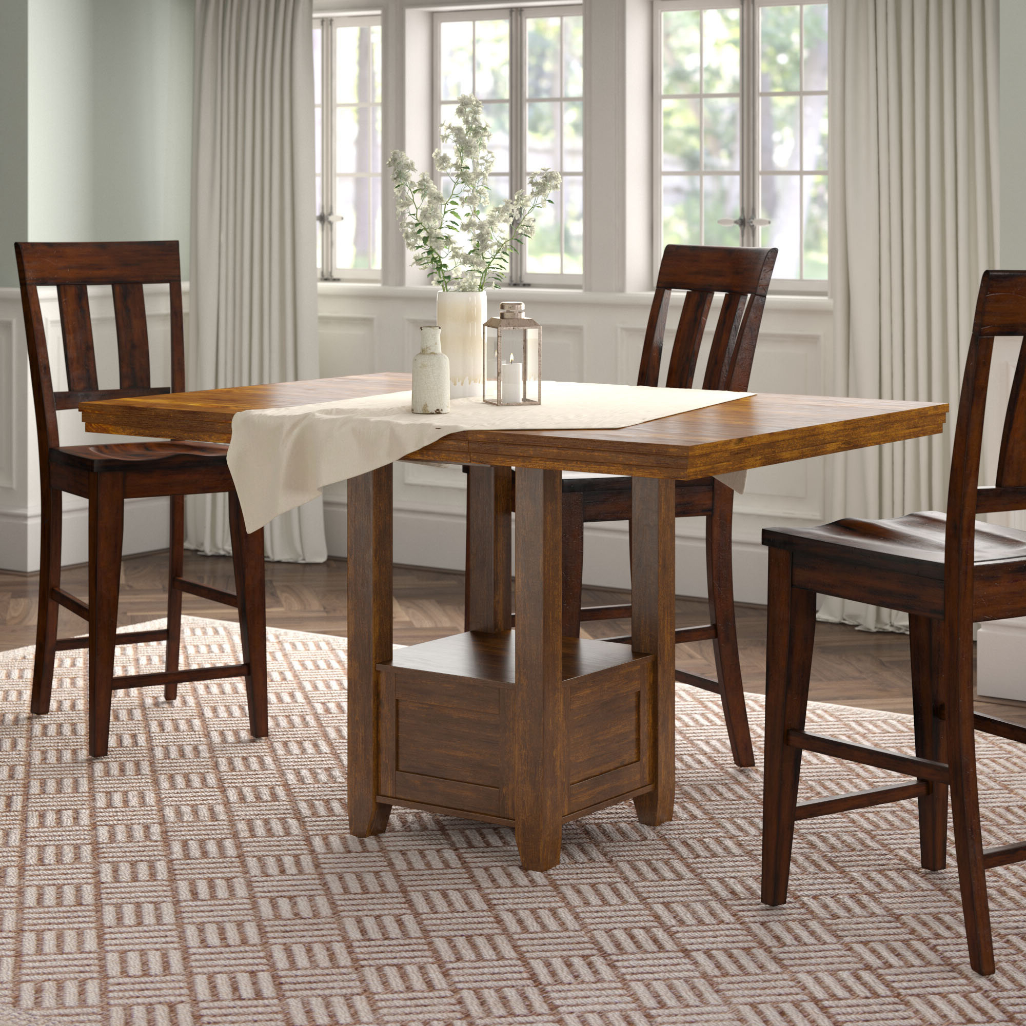 Well Liked Andover Mills Rebecca Counter Height Extendable Dining Table With Transitional 4 Seating Double Drop Leaf Casual Dining Tables (Gallery 20 of 30)