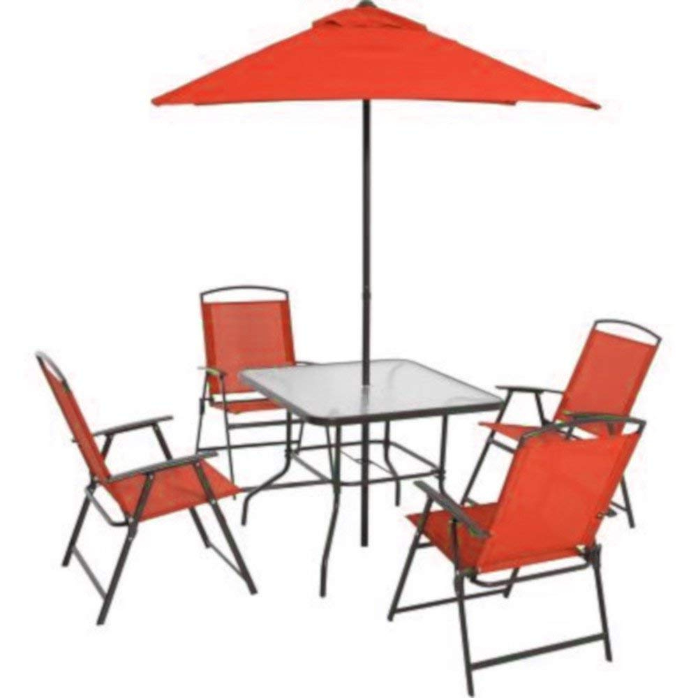 Well Liked Buy Amgs 5 Pc Dining Table Set Outdoor Patio Folding Chairs Intended For Chrome Contemporary Square Casual Dining Tables (Gallery 30 of 30)