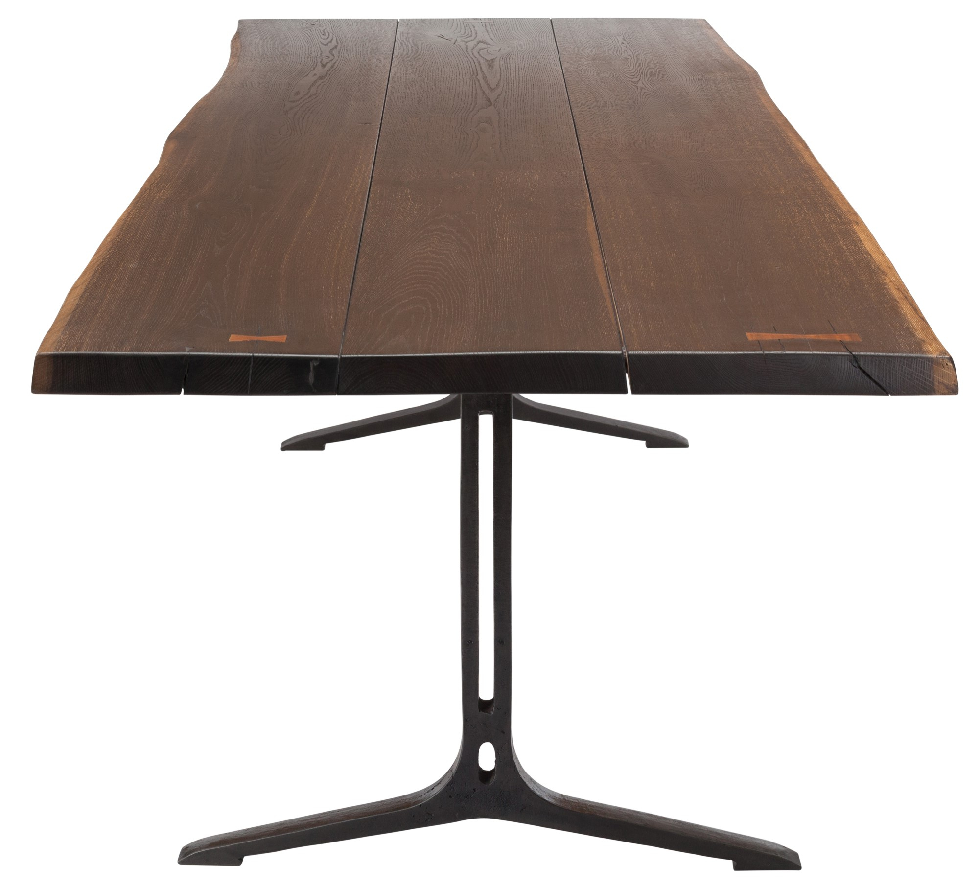 Well Liked Dining Tables In Smoked Seared Oak Regarding Samara Live Edge Dining Table (medium – Seared Oak With Black Base) (View 7 of 30)