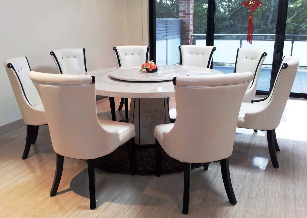 Well Liked Elegance Large Round Dining Tables With Icon Of Granite Dining Table Set Flooding The Dining Room (View 3 of 30)
